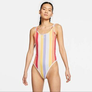 NIKE Sportswear Striped Printed Bodysuit M NWT